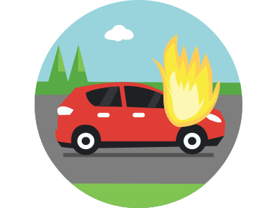 Damage to your vehicle due to an incident other than an accident.