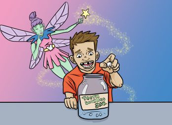 Kids' Money Personality: The Tooth Fairy Savings Plan | art by Jonan Everett