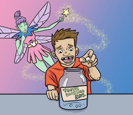 Kids' Money Personality: The Tooth Fairy Savings Plan | art by Jonan Everett