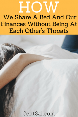 How to Share Your Finances and Your Bed With the Same Person? We are putting two heads together to figure out each puzzle in our budget. It's like having someone to check your facts twice over