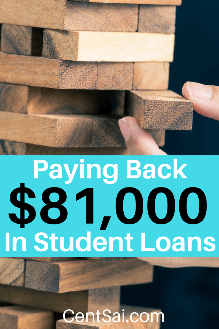 Paying Back $81,000 In Student Loans. It's important to only borrow what you can afford and be realistic about your life after school. Your payments could end up taking a huge chunk out of your budget.