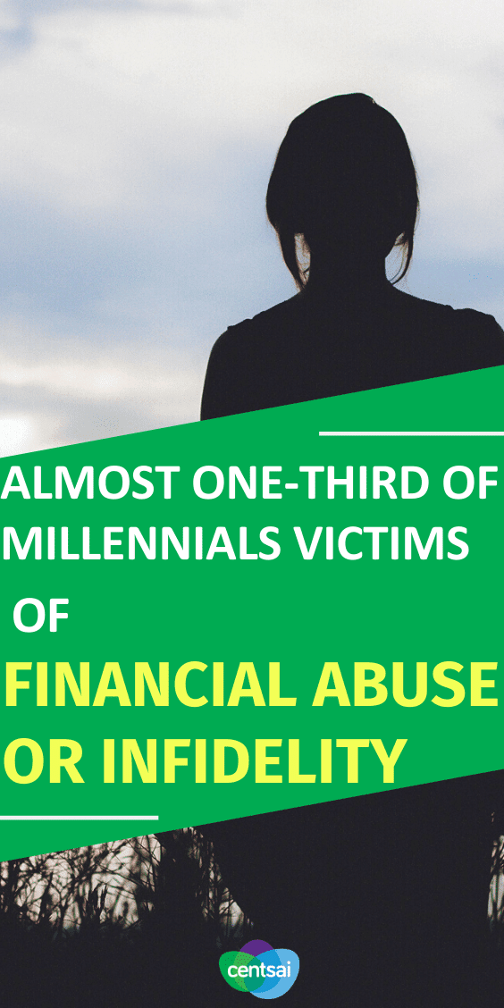 Almost one-third (30%) of millennials surveyed said they had fallen victim to financial abuse or infidelity by a partner. #CentSai #millennials #financialabuse #infidelity #moneymatters