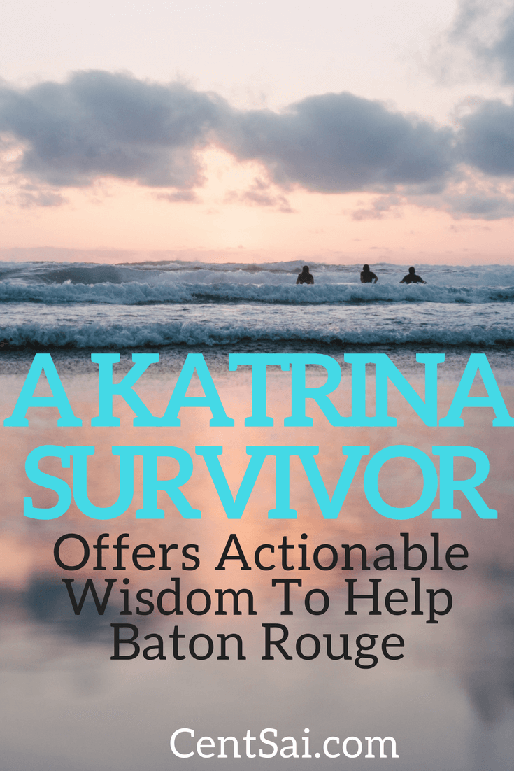 A Hurricane Katrina survivor reaches out to Baton Rouge – where she had taken refuge from the hurricane 11 years ago – with an uplifting message.