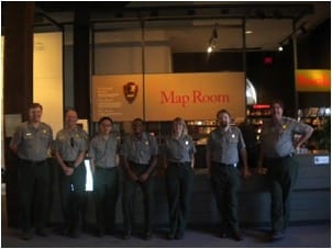 What Can You Do With a History Degree? My Lifelong Lessons | Catherine Alford with six of her fellow park rangers working at a museum in Richmond, Virginia.