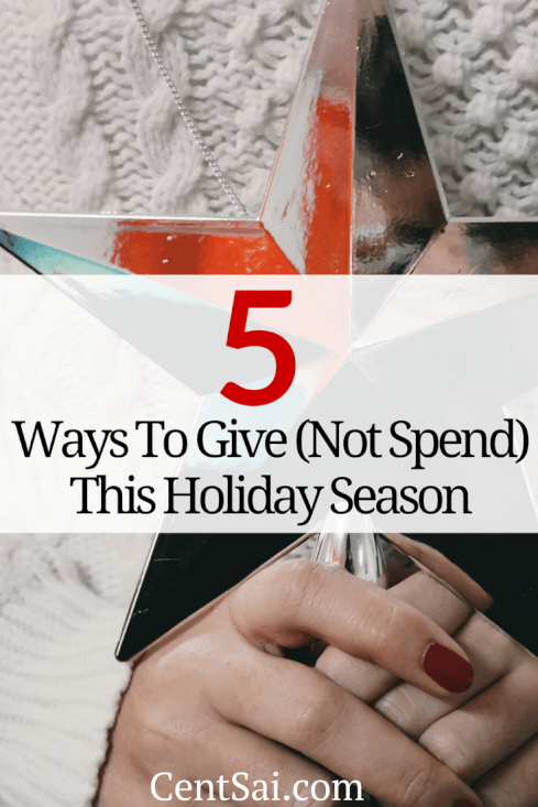 5 Ways To Give (Not Spend) This Holiday Season