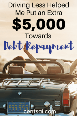 Driving Less Helped Me Put an Extra $5,000 Towards Debt Repayment