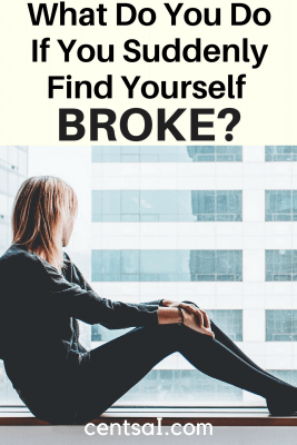 What Do You Do If You Suddenly Find Yourself Broke? It's tough to manage going broke when you've gotten used to a paycheck, but there are ways to get through the rough patch.