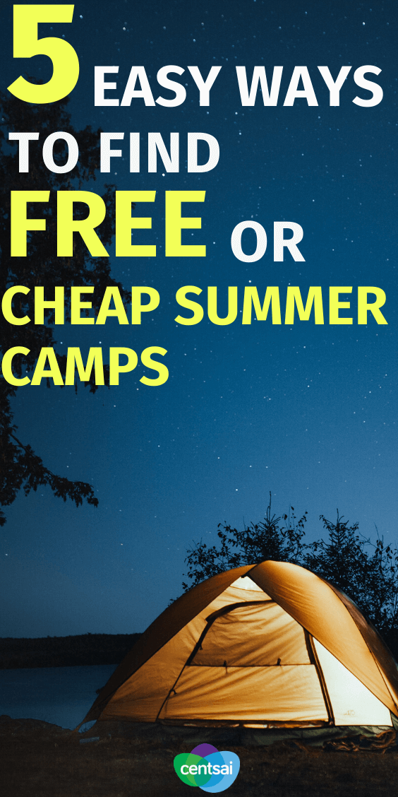 Do you ever find yourself looking for affordable summer camps, only to find that most places cost an arm and a leg? Never fear — we've got some tricks up our sleeve. Check out these tips and ways to find cheap summer camps. Some are even free. #savingtips #CentSai #frugaltips #money #CentSai