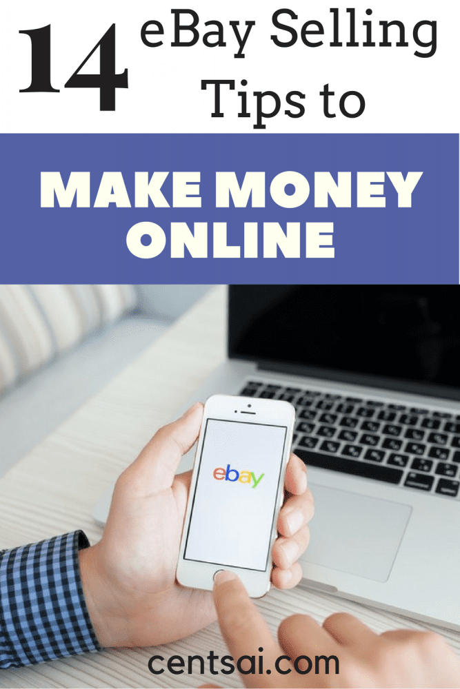 14 eBay Selling Tips to Make More Money Online. Unbelievable! Here are 14 eBay selling tips to help you make more money! Thanks for pinning!