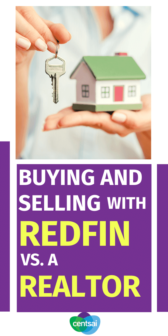 What are the main differences in buying and selling a home with online real estate brokerage Redfin vs. an actual realtor? Find out here! #CentSai #Investment #Realestate #Redfin #realtor #realestatemarketing