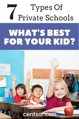 7 Types of Private Schools – What's Best for Your Kid? Not all private schools are alike. Research the different types of private schools to see which one suits your family best. Please include religious schools as well if you are faith-inclined.