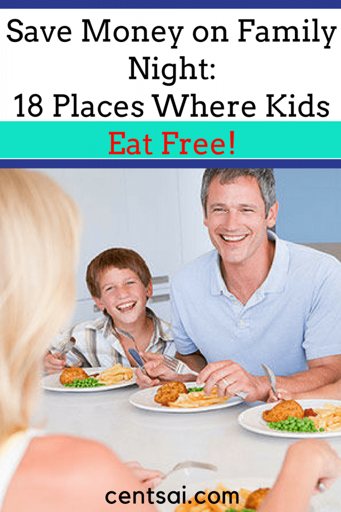Save Money on Family Night: 18 Places Where Kids Eat Free! So you want to treat the family, but you're on a budget. No worries – there are plenty of places where kids eat free!