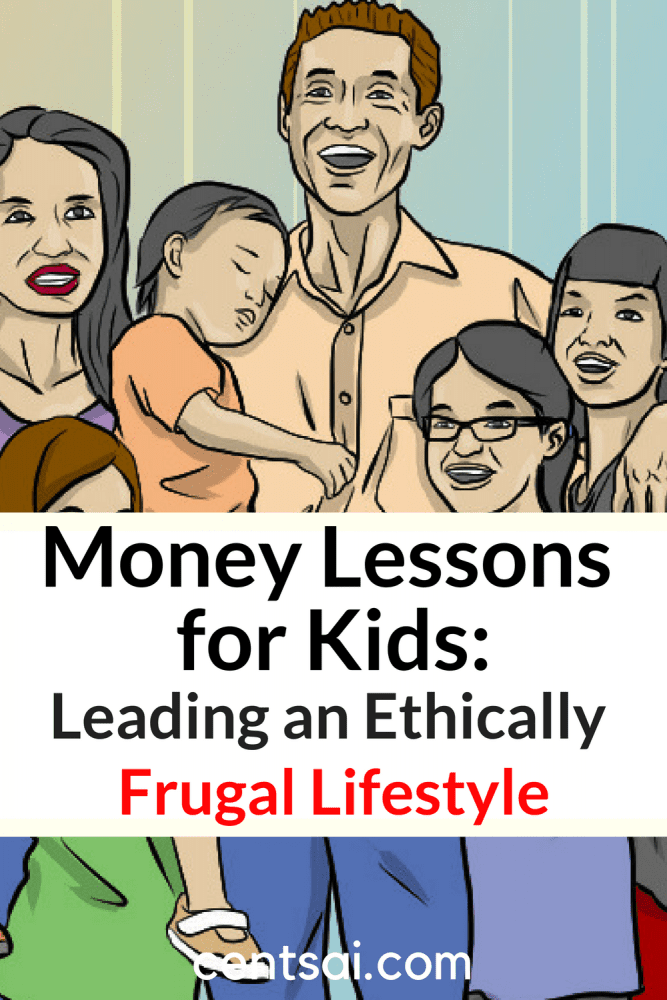 Money Lessons for Kids: Leading an Ethically Frugal Lifestyle. Teaching kids about money and saving is a wise idea, but make sure that they can recognize the line between frugality and cheating! #savingmoney #financialliteracy #personalfinance #money #savingtips #frugal