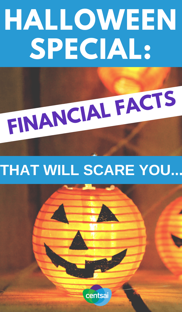 Halloween financial facts from CentSai and Sammy Rabbit. What are the stats that should scare you into action?  #financialfreedom #personalfinance #finance #financeplanning