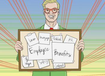 4 Employee Benefits That Help You Save Money - art by Jonan Everett