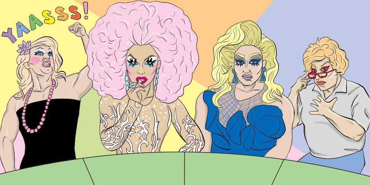 RuPaul's Budget Race: How to Be a Drag Queen When You're Broke | Art by Jonan Everett