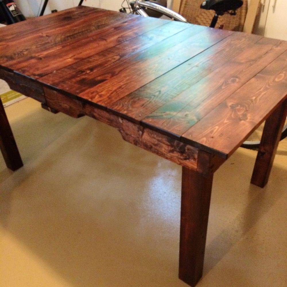 Eugene's finished DIY table