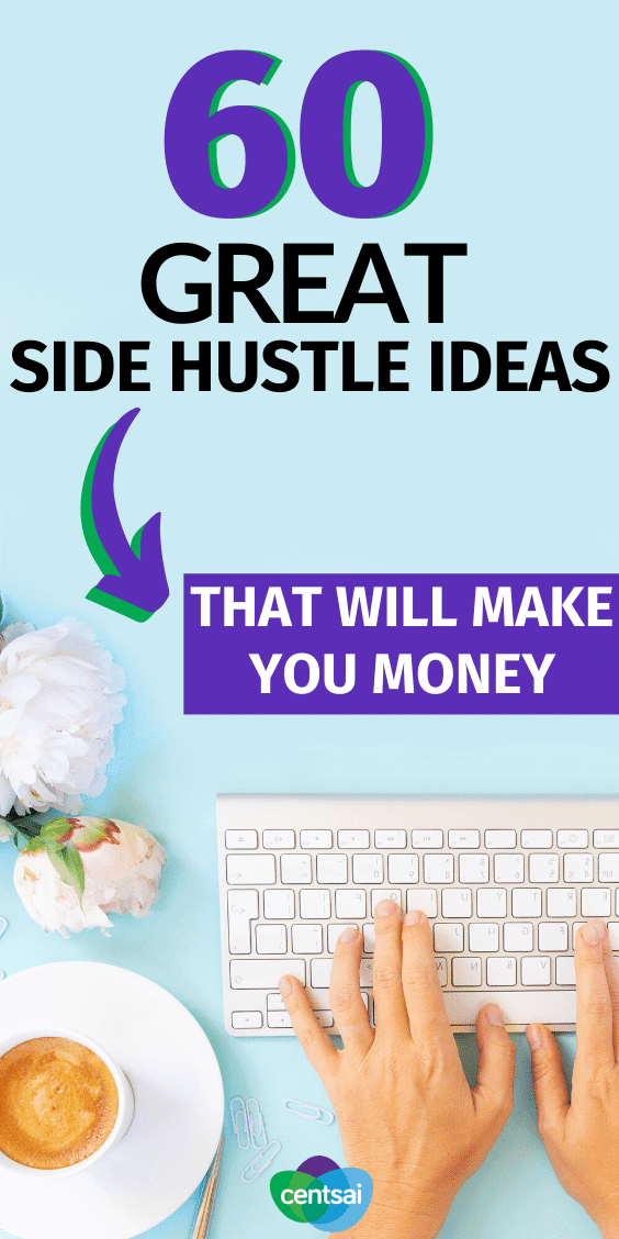 Ever wish you had a little extra money? You don't have to sell your dog to get it. Check out these great side hustle ideas instead. #CentSai #makemoney #sidehustletips #sidehustleideas #makemoney