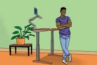 Are Standing Desks Good for You? | art by Jonan Everett