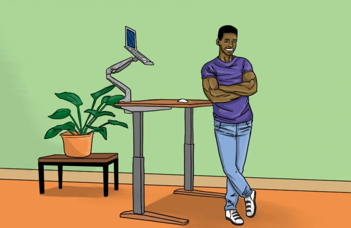 Are Standing Desks Good for You?   art by Jonan Everett