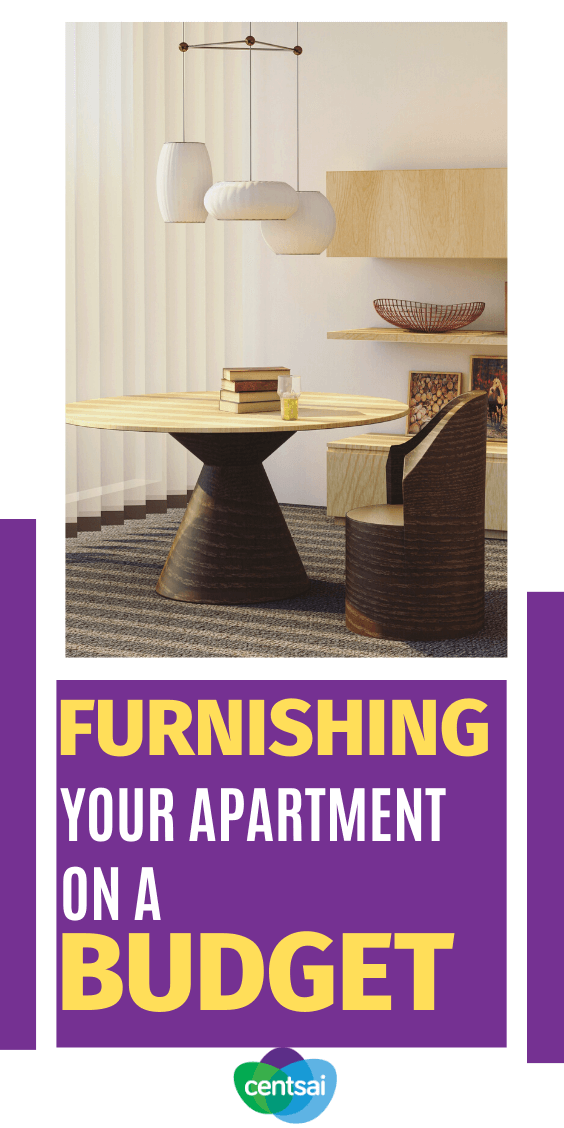 Getting furniture for your new place can be stressful and expensive. Learn how to furnish an apartment on a budget with these handy tips the right way! #CentSai #savingtips frugaltips #budgetingtips