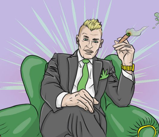 Marijuana marketplace | art by Jonan Everett