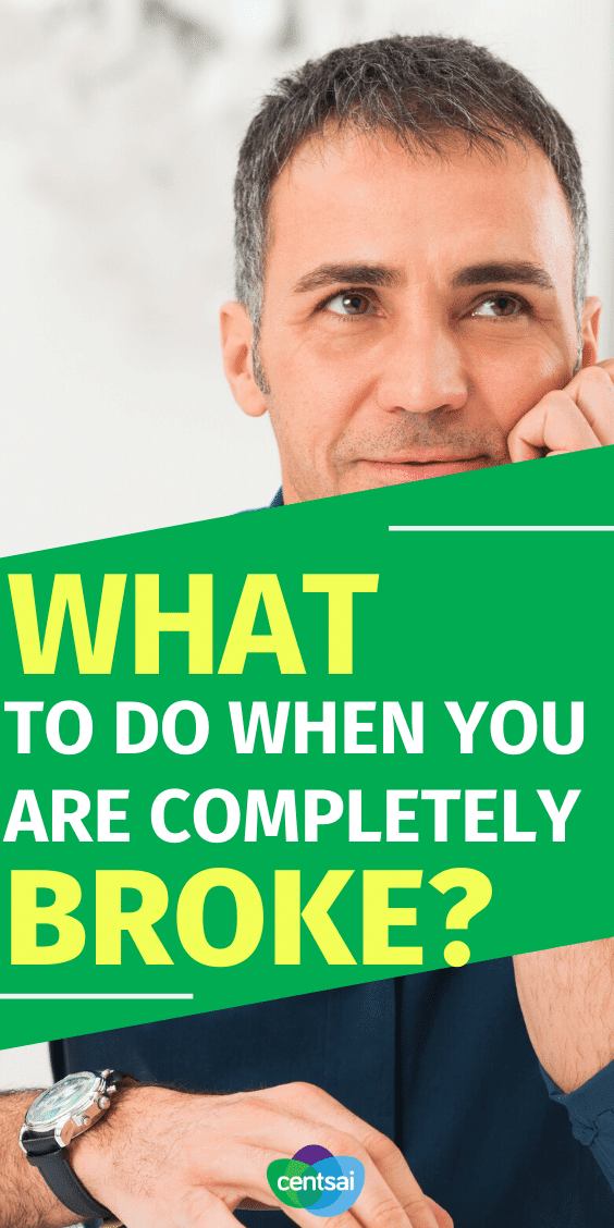 Here's the straightforward guide to when you're completely broke and need money asap. #FinancialLiteracy #financialfreedom #personalfinance #finance #financeplanning #CentSai
