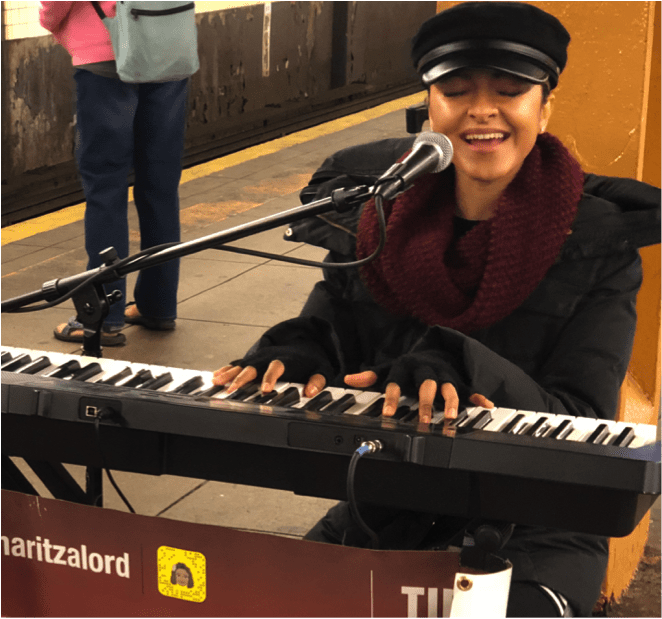 NYC subway performers: Maritza Lord, Photo by Arindam Nag