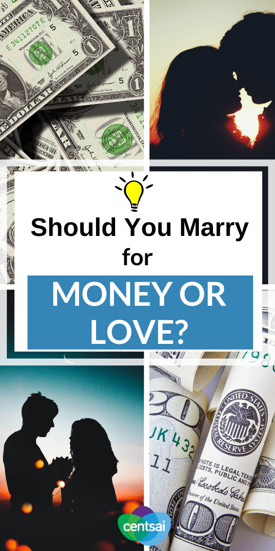 Marrying rich gets a bad rap these days. Is that reputation deserved? Should you marry for money or love? Check out one woman's take on the subject. #Love #relationship #CentSai