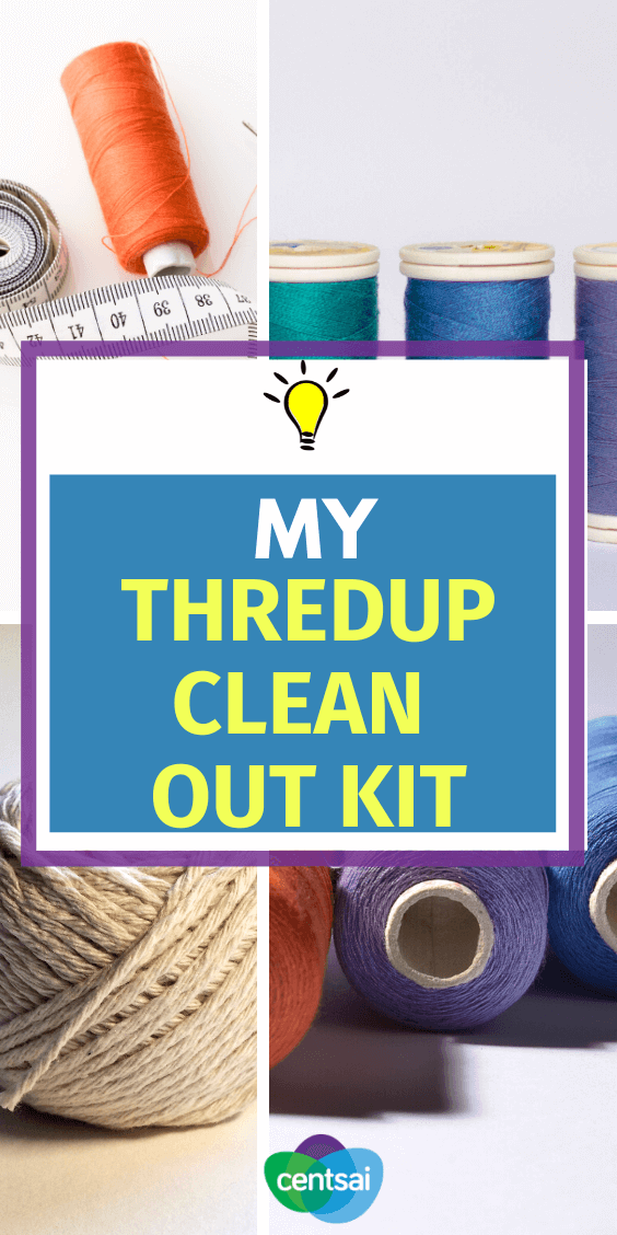 Do you have tons of old clothes you want to get rid of? Check out how the ThredUP Clean Out Kit compares to traditional thrift stores. #review #CentSai #Threadup #Cleanout #Frugaltips