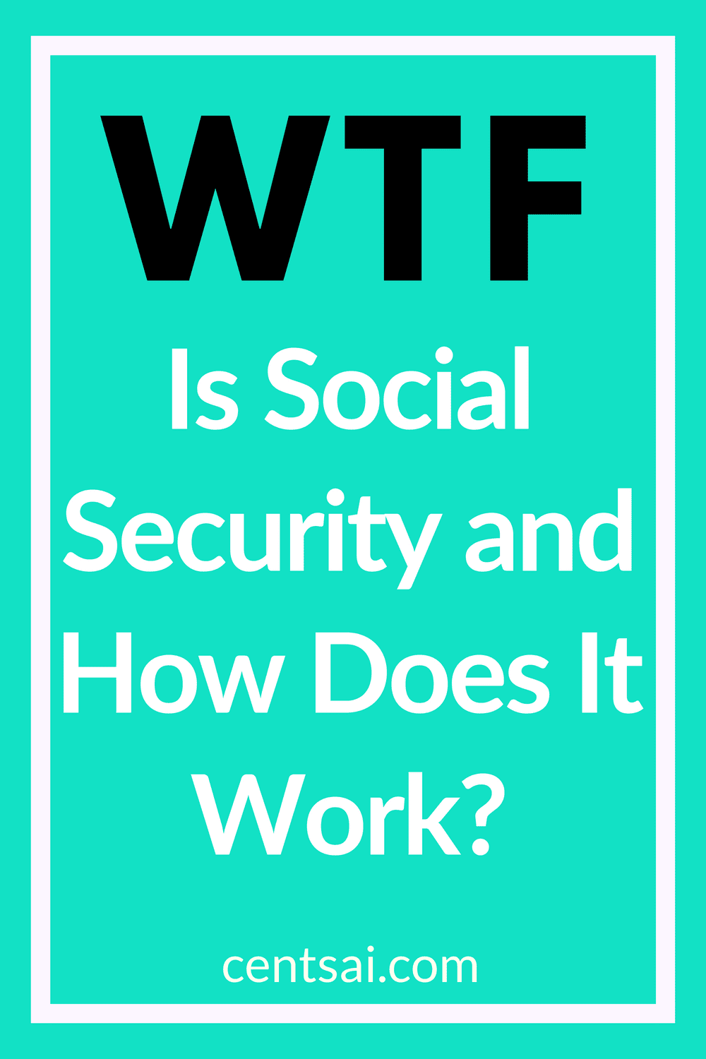 WTF Is Social Security and How Does It Work? Will you have enough money to support yourself when you retire? If you become disabled? Social Security can help. Learn what it is and how it works. #retirement #retired #socialsecuritybenefits #socialsecurity