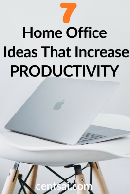 7 Home Office Ideas That Increase Productivity. Do you struggle to find motivation while working from home? Check out these home office ideas that are sure to boost morale and increase productivity. #homeofficeideas #officeideas