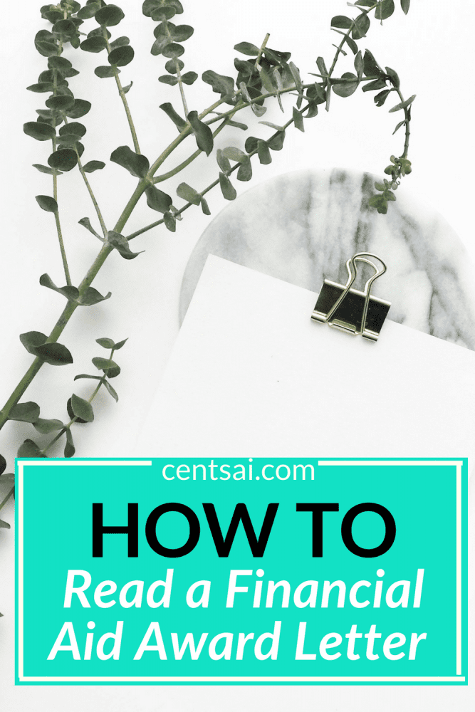 How to Read a Financial Aid Award Letter. Do you know what's really in your financial aid package? Learn how to read a financial aid award letter so that you know what you're getting into. #financialaidforcollege #financialaid #personalfinance