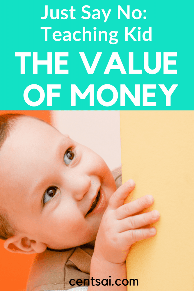 Just Say No: Teaching Kids the Value of Money.Sometimes saying no to kids feels impossible, but it can teach them the value of money. Learn how to just say no and teach them important money lessons for kids. #moneylessonsforkids #moneylessons #moneylessonsreallife