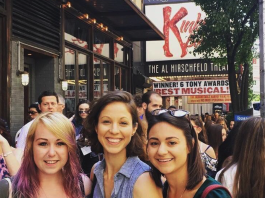 "How to get cheap Broadway tickets: Kelly Meehan Brown going to see ""Kinky Boots"" with friends Tricia and Sarah"