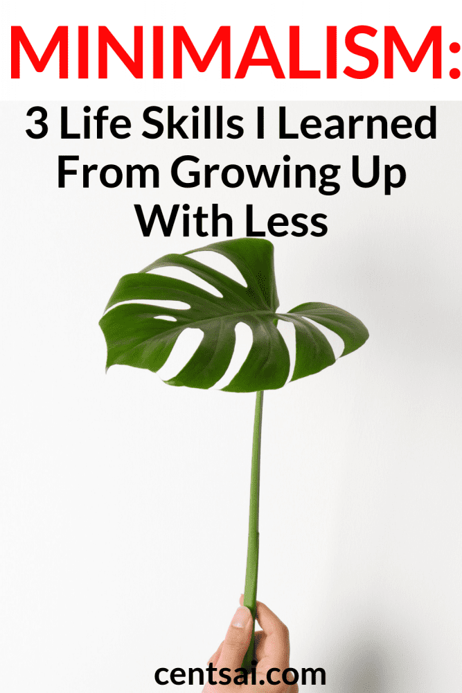 Minimalism: 3 Life Skills I Learned From Growing Up With Less. Did you know that minimalism can teach you important life skills? Check out what I learned from growing up with less. Perhaps you'll learn something, too. #minimalism #minimalismhome #minimalismquote