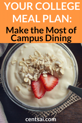 Your College Meal Plan: Make the Most of Campus Dining. Does your college meal plan show every intent of bleeding you dry? Check out our guide to make the campus dining experience more affordable. #mealplan #collegemealplan