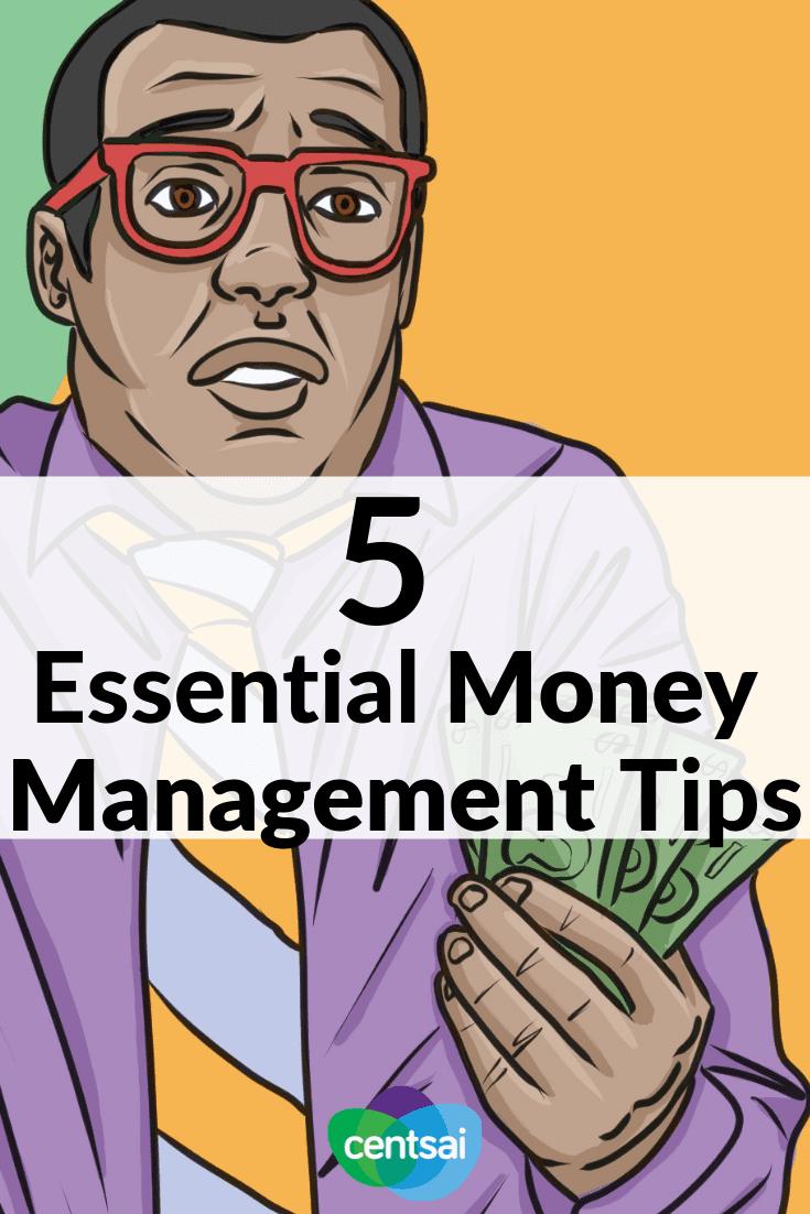5 consejos esenciales para la gestión del dinero. Las finanzas personales a menudo no se enseñan en las escuelas; aquí está la introducción rápida a los conceptos básicos que deberá abordar. #finanzaspersonales #gestión del dinero