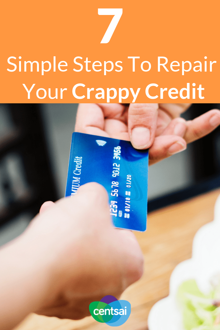 7 Simple Steps To Repair Your Crappy Credit. Has bad credit got you in a bind? You don't have to be stuck in financial hell forever. Learn how to repair credit with these seven steps. #financialindependence #creditcard