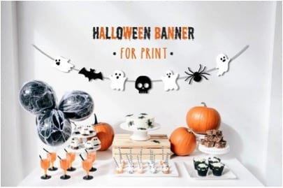 27 Cheap Halloween Party Ideas for Under $27: Printable Halloween banners