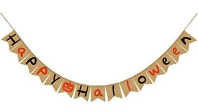 27 Cheap Halloween Party Ideas for Under $27: Happy Halloween garland