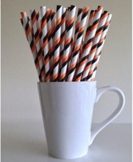 27 Cheap Halloween Party Ideas for Under $27: Striped Halloween straws