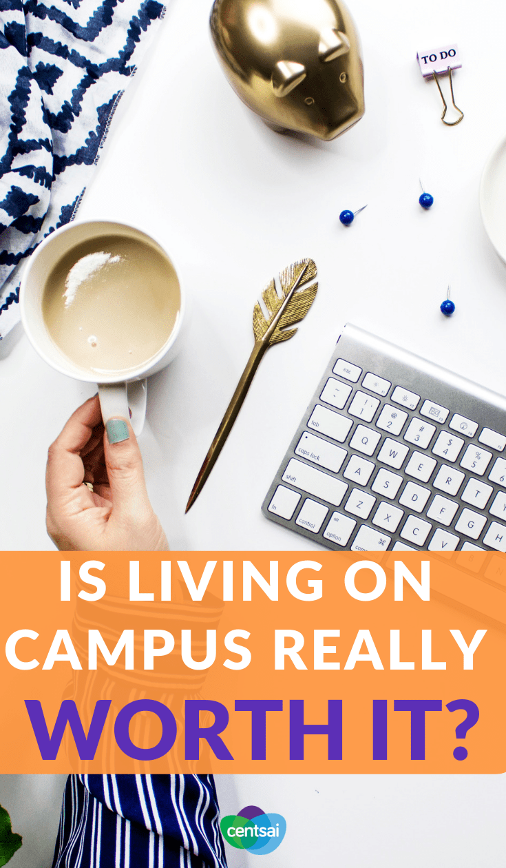 Is Living on Campus Really Worth it? Is living on campus worth it? It may be for some, but it's a money pit for others. Check out the pros and cons to see if it's right for you. #costofliving #college #education