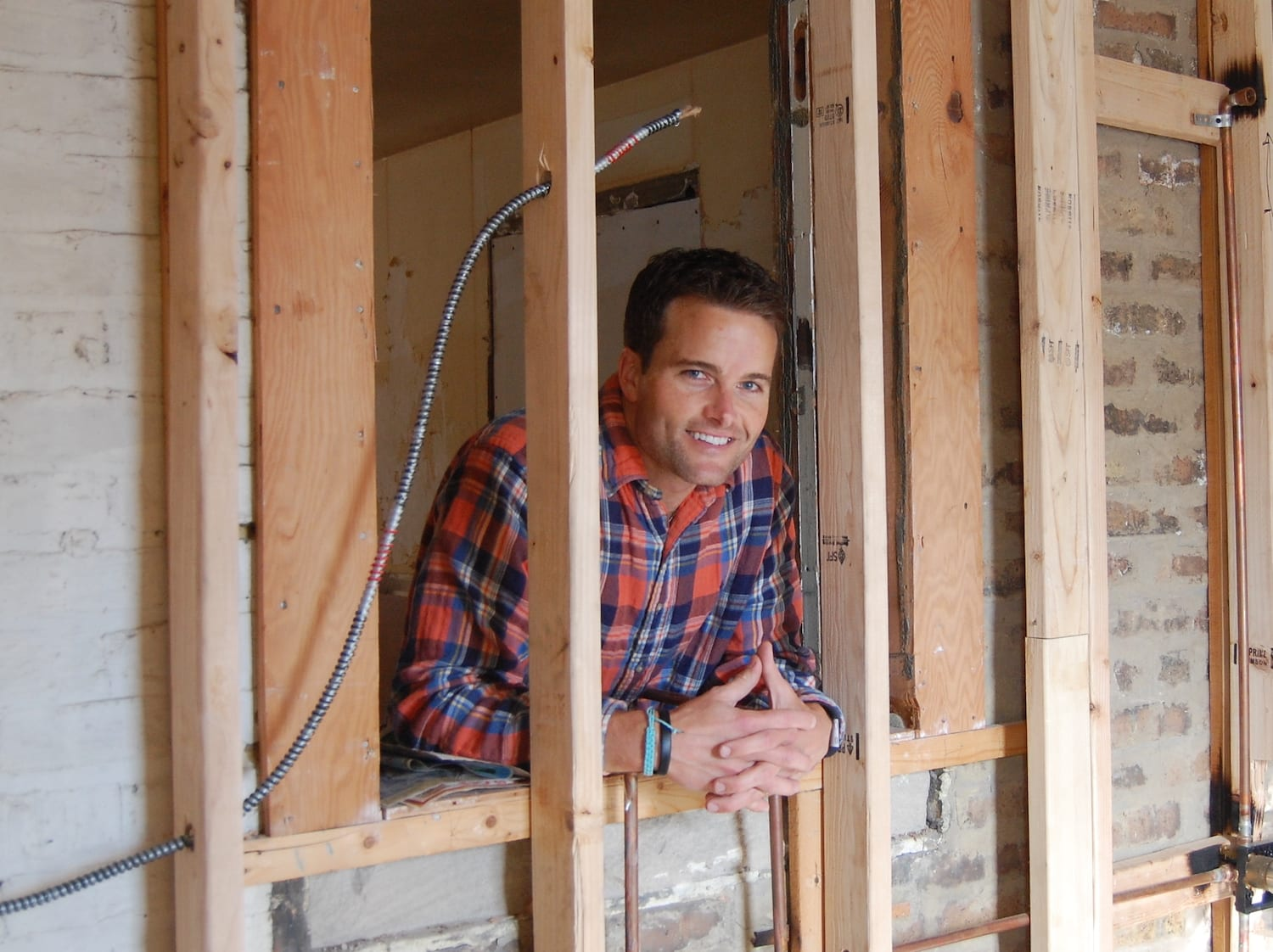 Army veteran Kirby Atwell at a home that he's renovating as a real estate entrepreneur