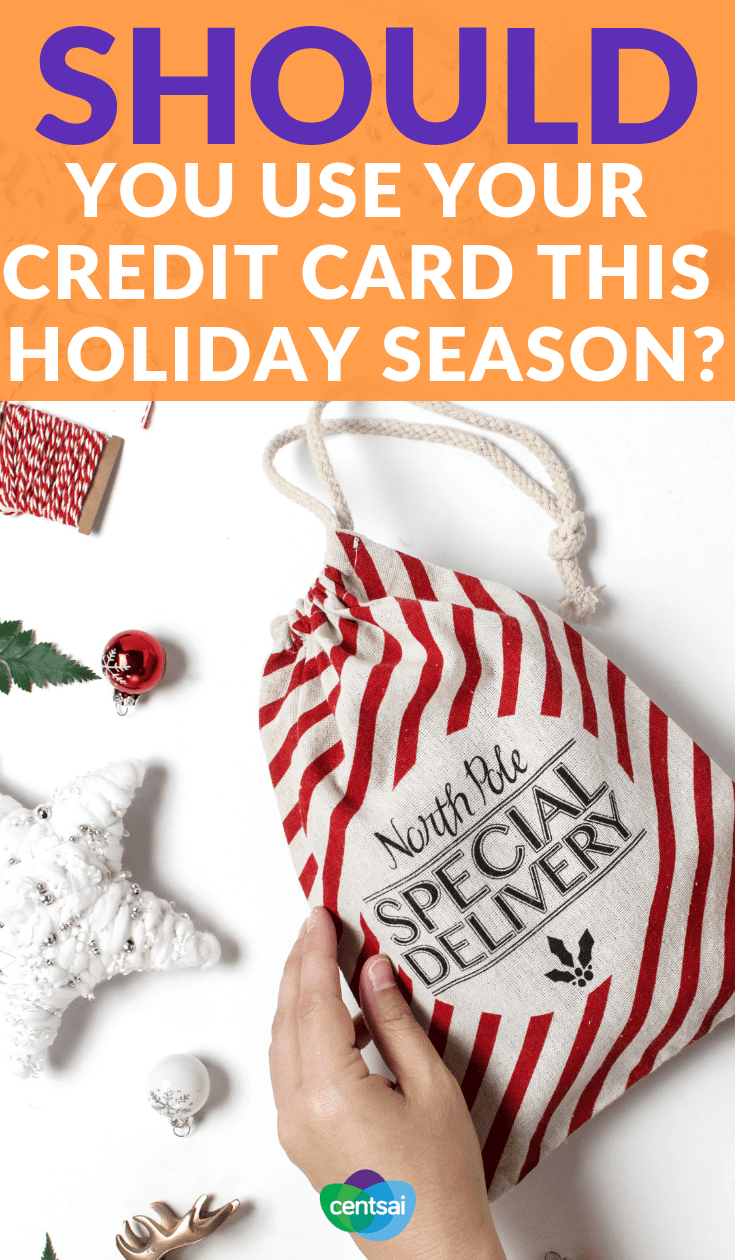 Should you use your credit card this holiday season? Are holiday gifts straining your budget? Tempted to just put it all on a card? Learn the pros and cons of holiday credit card spending first. #creditcard #holidayexpert #personalfinance