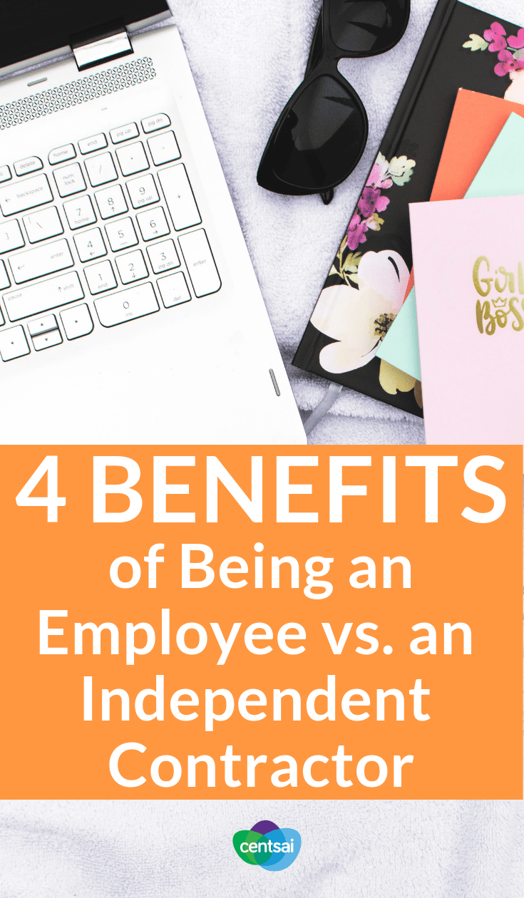 4 Benefits of Being an Employee vs. an Independent Contractor. Everybody raves about freelancing, so why work full-time? Check out the benefits of being an employee vs. an independent contractor. #employee #independentcontractor #freelance #career