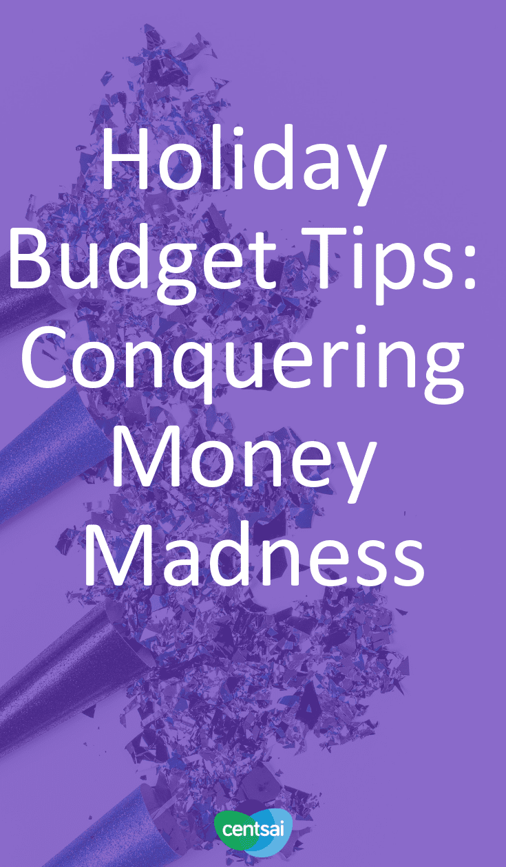 Holiday Budget Tips: Conquering Money Madness. Does your holiday spending often spiral out of control? Check out these holiday budget tips to help keep more money in your wallet. #budget #moneyimindset #holiday #budgetingtips