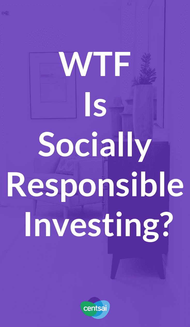 """What is socially responsible investing, and is it a good idea? Learn all about SRI in this edition of our """"WTF is"""" column. #investing #investingmoney #investingforbeginners"""