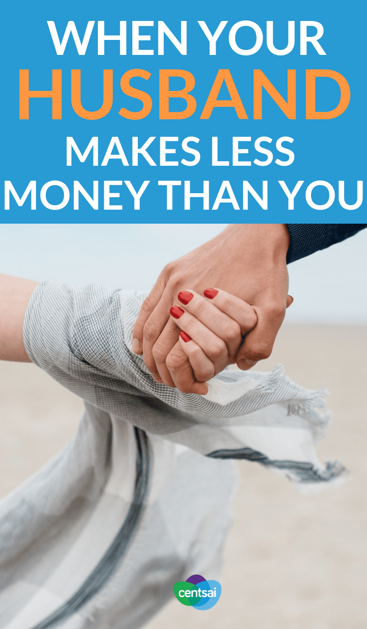 When Your Husband Makes Less Money Than You. Traditional gender-based roles continue to disappear as equality becomes more of the norm. Some men find challenges in their new status. #family #financialplanning #moneymatters