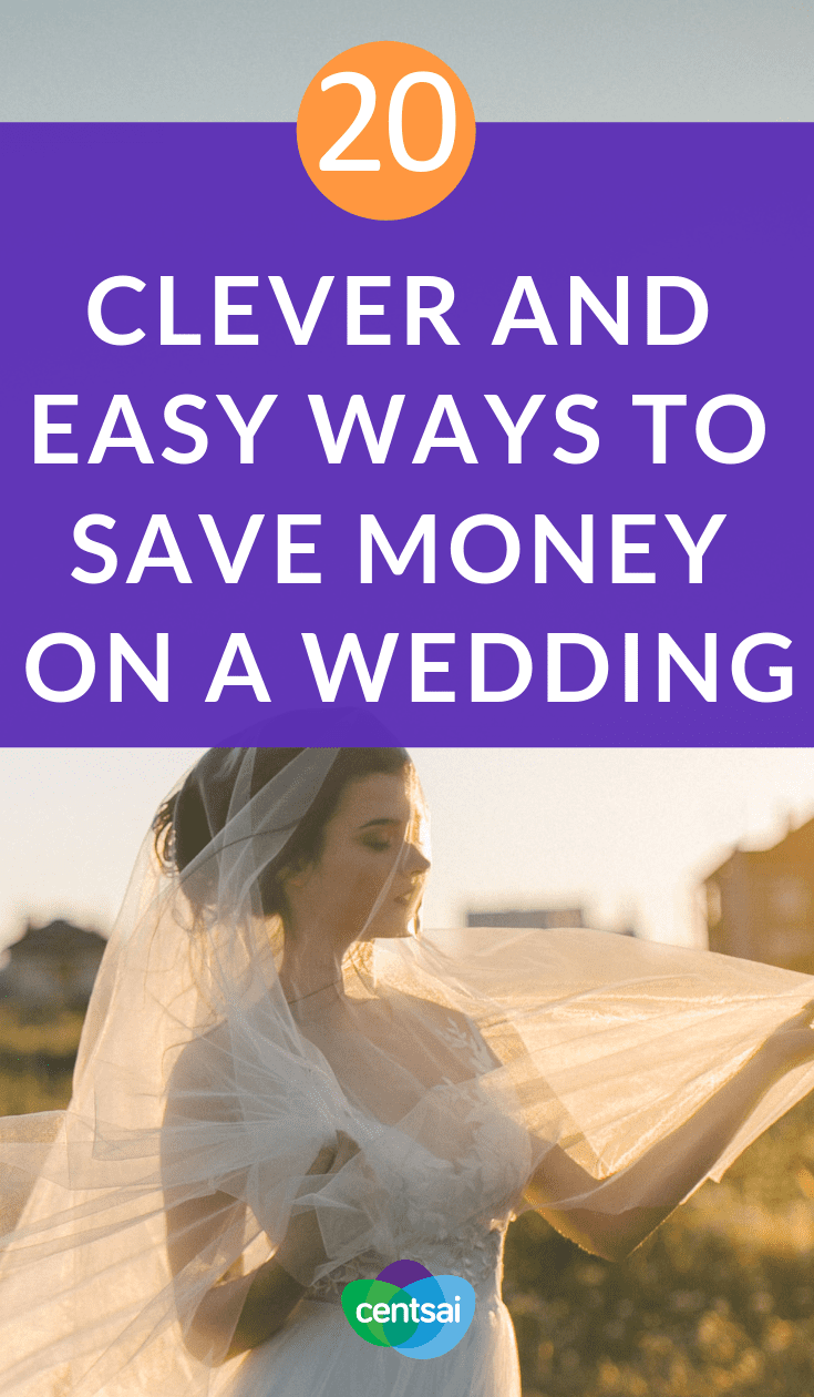 20 Clever and Easy Ways to Save Money on a Wedding. What does your #weddingbudget look like, and is that number worth it for you? Check out these top ways to save money on a #wedding #savemoney #frugaltips #savingtips #weddingtips #frugaltips